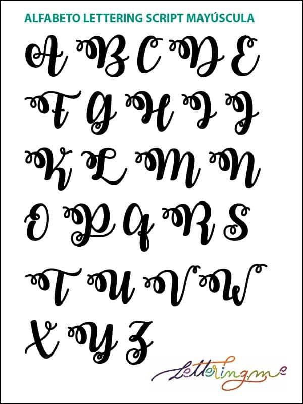 Alfabeto Lettering Script - Lettering