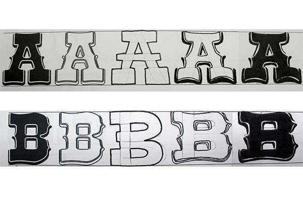 Ejercicio de lettering: dibujar letras Western paso a paso