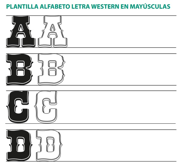 Plantilla Lettering Western