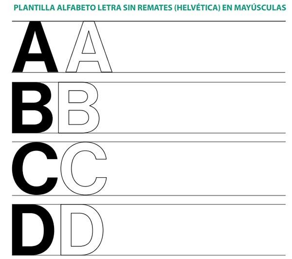 cheap for sale finest selection wholesale sales Plantilla Lettering Letra Sin Remates Helvética - Lettering