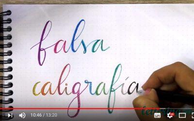 Curso de lettering online. Lección 2: Cómo dibujar falsa caligrafía o Hand Lettering