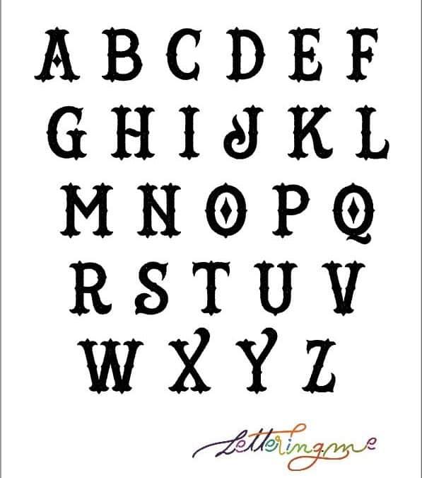 Alfabeto Lettering Victoriano: origen, características y ejemplos