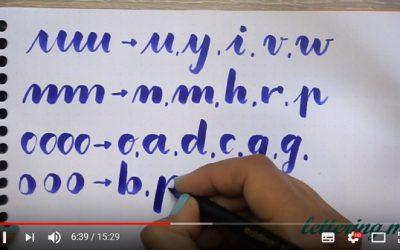 Curso de lettering online. Lección 3: Caligrafía Brush Script
