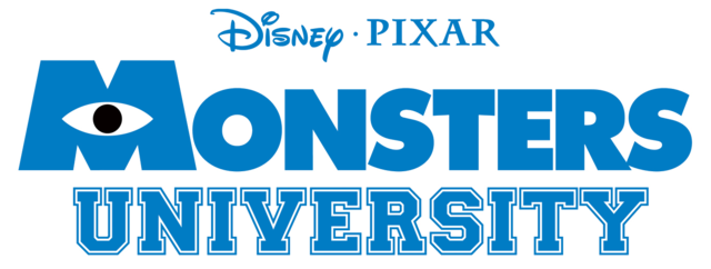Logo Monstruos SA Unversity lettering block college universidad