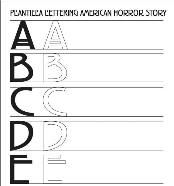 Plantilla Lettering American Horror Story para Descargar Gratis