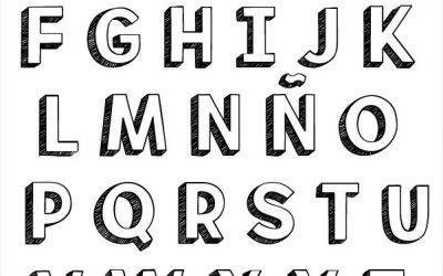 Alfabeto Lettering 3D en Mayúsculas y Minúsculas