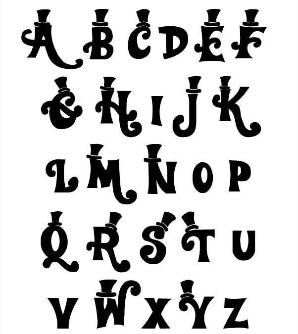 Alfabetos Lettering Willy Wonka