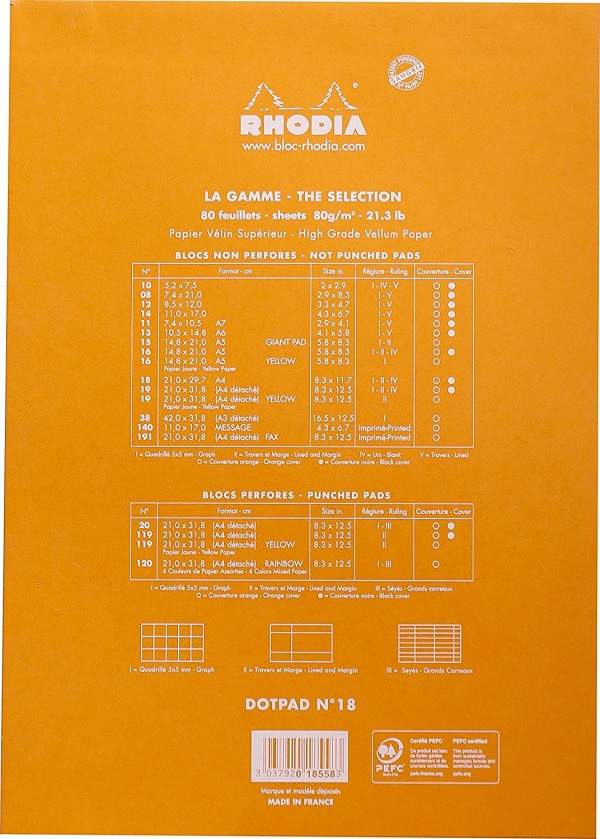 Comprar bloc lettering Clairefontaine Rhodia A4 2
