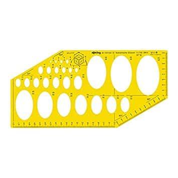 Comprar plantilla elipses para lettering Rotring