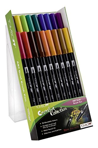 Comprar rotuladores lettering Tombow Dual Brush 18 colores fuertes