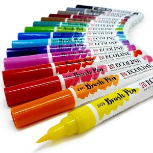 Rotuladores para lettering Royal Talens Ecoline Brush Pen 15 colores