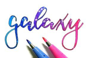 Lettering con rotuladores Pentel Brush Sign Pen Touch 2
