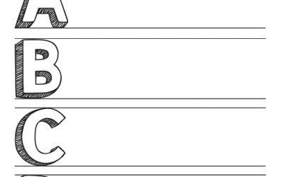 Plantilla Lettering 3D en Mayúsculas para Descargar Gratis