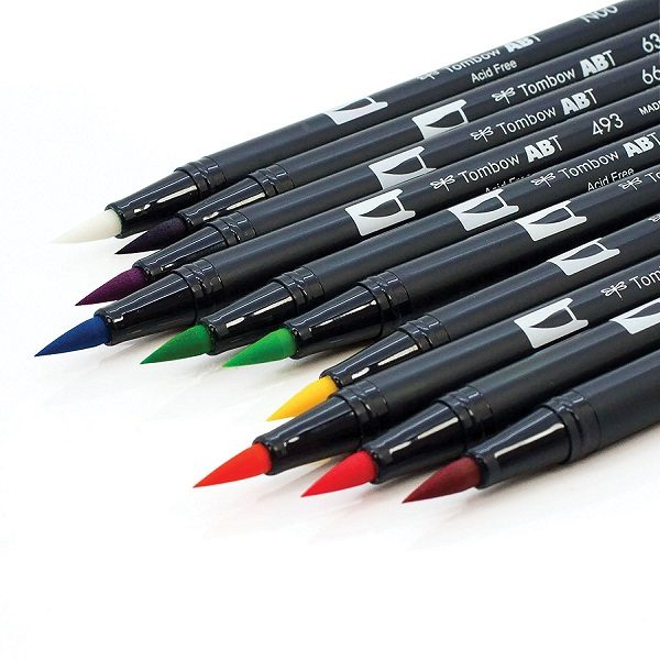 Comprar rotuladores lettering Tombow Dual Brush 10 colores puntas