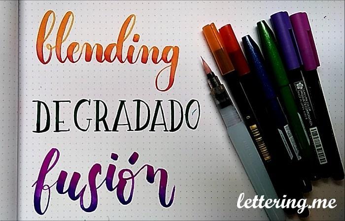 Cómo hacer un blending o degradado en lettering