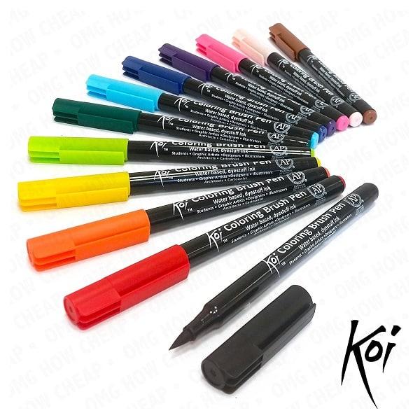Comprar rotuladores Koi Sakura 12 colores para lettering