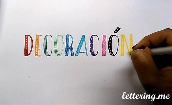 Ejercicio de lettering f cil y divertido decoraci n de - Formas de letras para decorar ...