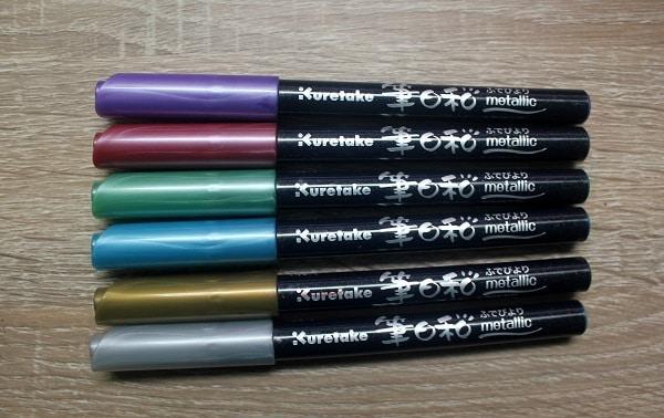 Review rotuladores Kuretake metallic Brush pen para caligrafía y lettering 4