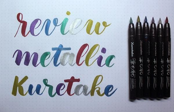 Review rotuladores Kuretake metallic Brush pen para caligrafía y lettering 3