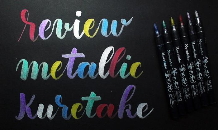 Review rotuladores kuretake metallic sobre cartulina negra 2