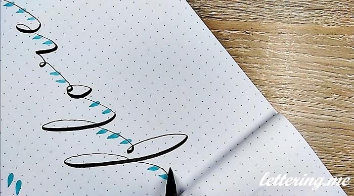 Ejercicio Decorar Lettering Con Flores Lettering