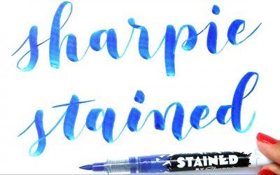 Review del rotulador Sharpie Stained para lettering y caligrafía