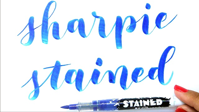 Rotuladores para lettering Sharpie Stained