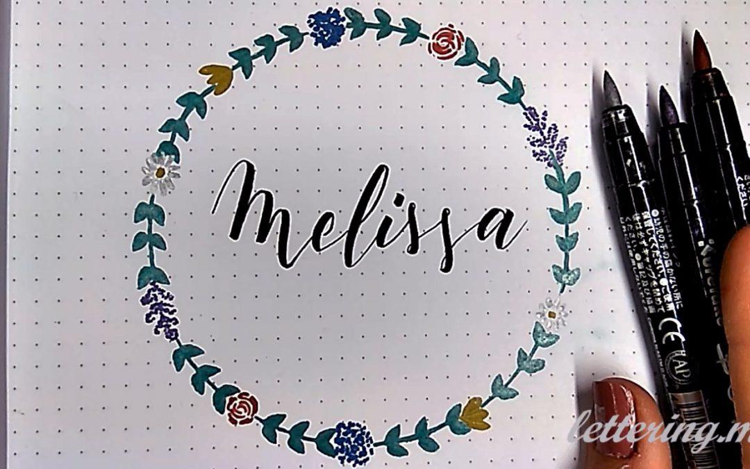 Como Dibujar Una Guirnalda De Flores Para Lettering Lettering