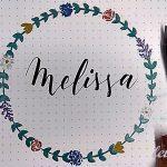 Cómo dibujar una guirnalda de flores para lettering