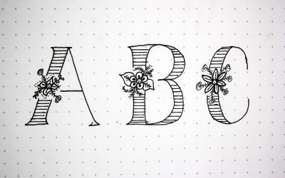 Cómo dibujar letras con flores en el medio o lettering de flores
