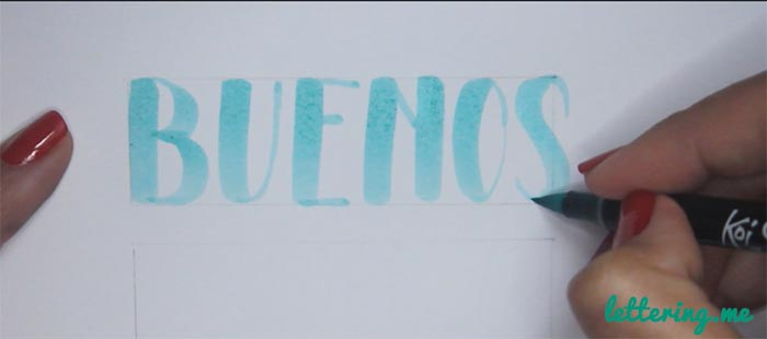 Truco lettering Paso 1