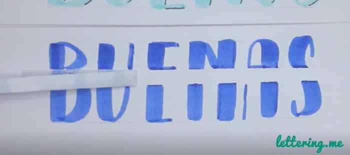 Truco lettering 2 Paso 4