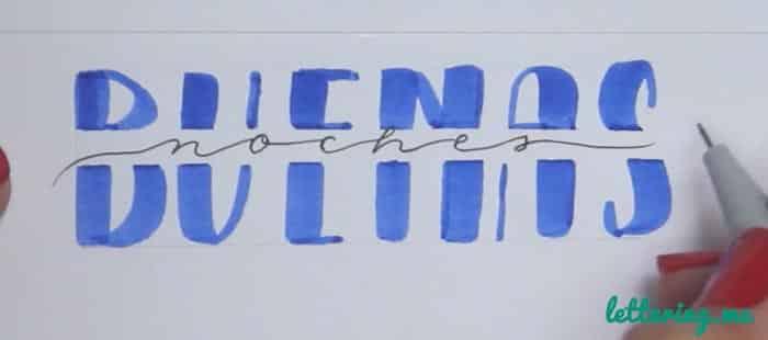 Truco lettering 2 Paso 5
