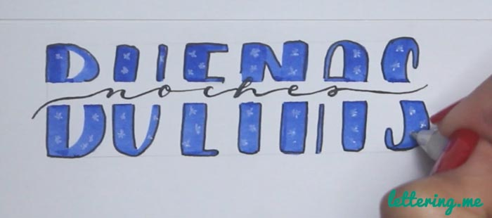 Truco lettering 2 Paso 6