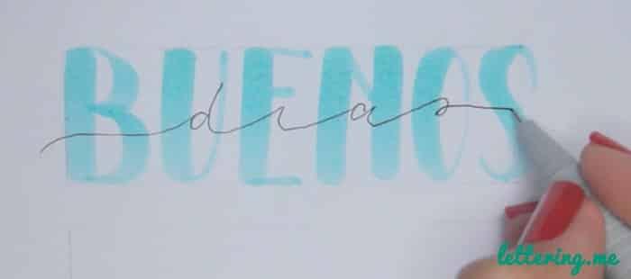 Truco lettering Paso 2