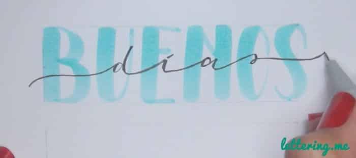 Truco lettering Paso 3