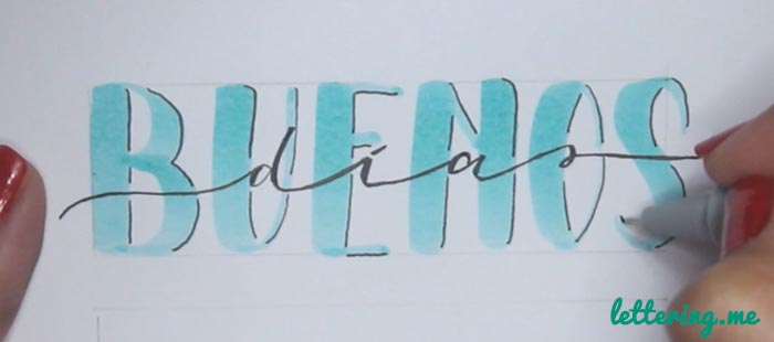 Truco lettering Paso 4