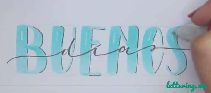 Truco lettering Paso 5