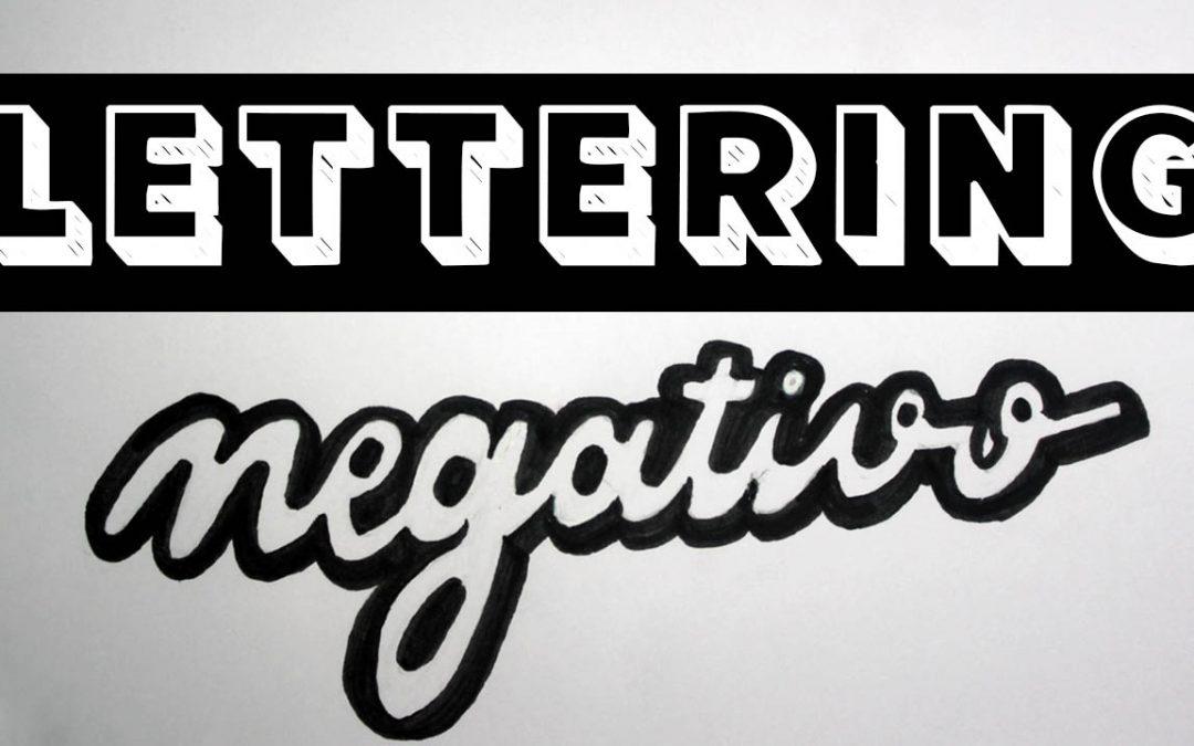 Lettering en Negativo