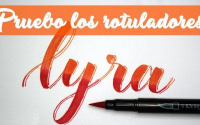 Rotuladores Lyra para Brush Lettering