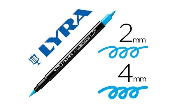 Rotulador Lyra Aqua Brush azul