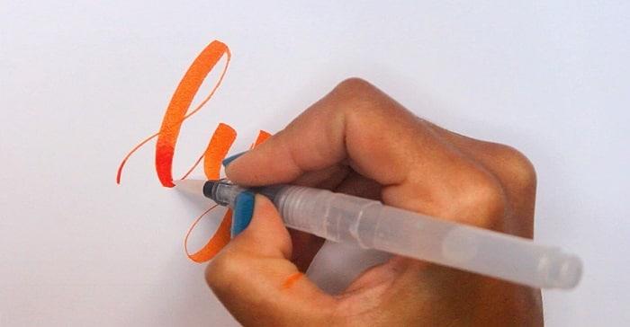 Review rotuladores Lyra Aqua Brush degradado