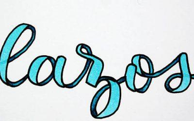 Lettering de Lazos o Ribbon Letters: Alfabeto completo paso a paso