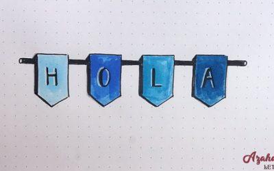 Cómo Dibujar un Lettering con Banderolas