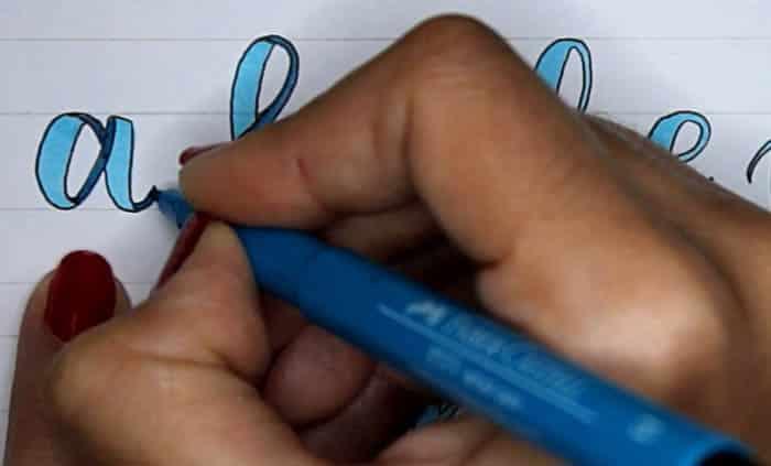 Tutorial lettering lazos ribbon letters paso 6