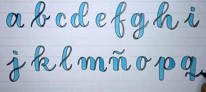 Tutorial dibujar banderolas o guirnaldas para lettering alfabeto 1