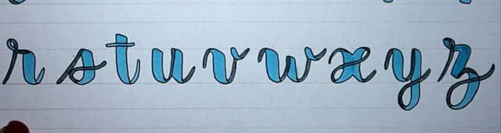 Tutorial dibujar banderolas o guirnaldas para lettering alfabeto 2
