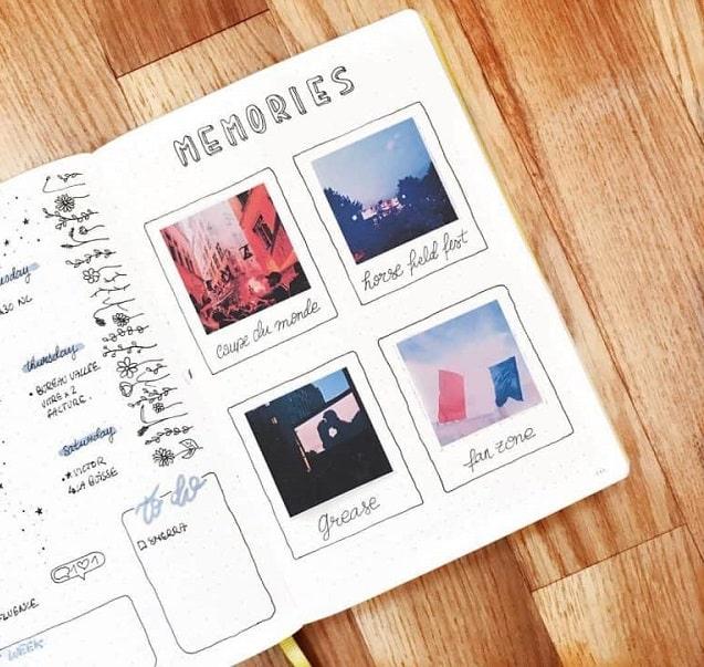 Lettering álbum fotos memorias 3