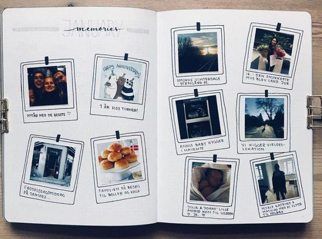 Lettering álbum fotos memorias 2