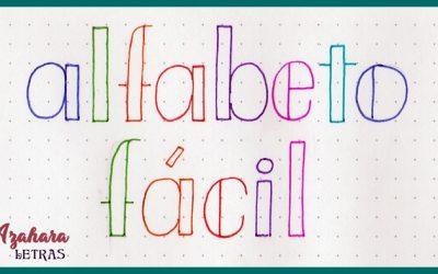 Alfabeto de Lettering Fácil Paso a Paso